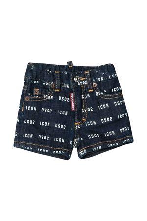 Dark denim baby shorts with logo trama Dsquared2 kids DSQUARED2 KIDS | 30 | DQ04ERD00Z1DQ01