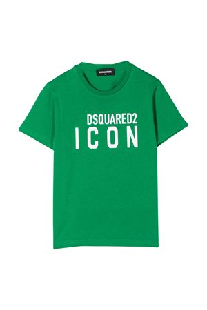 Green teen t-shirt with white