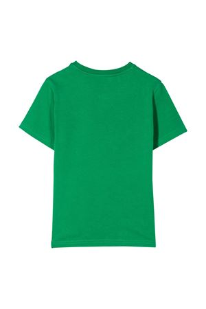 Green t-shirt with white