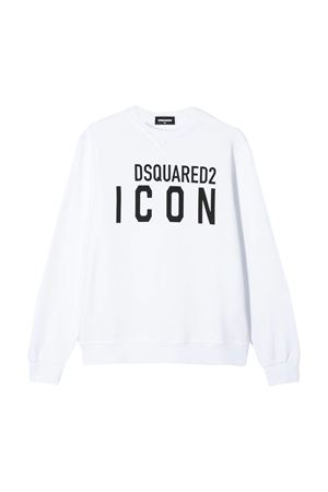 White sweatshirt Dsquared2 kids  DSQUARED2 KIDS | -108764232 | DQ04EWD00RGDQ100