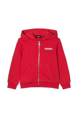 Red sweatshirt Dsquared2 kids  DSQUARED2 KIDS | -108764232 | DQ04EYD00RGDQ411
