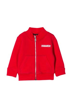 Red sweatshirt Dsquared2 kids  DSQUARED2 KIDS | -108764232 | DQ04F2D00RGDQ411