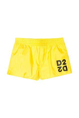 Yello swimsuit with D2 logo DSQUARED2 kids DSQUARED2 KIDS | 85 | DQ04FBD00QKDQ205
