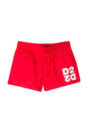 Red swimsuit with D2 logo DSQUARED2 kids DSQUARED2 KIDS | 85 | DQ04FBD00QKDQ411