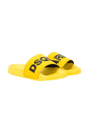Slides gialle teen con logo DSQUARED2 kids DSQUARED2 KIDS | 5032315 | DY0001P2339H6314T