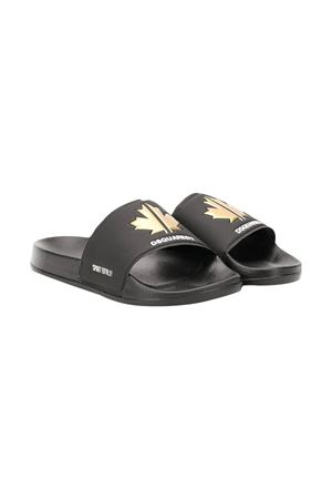 Black sandals Dsquared2 kids teen  DSQUARED2 KIDS | 5032315 | DY0003P3087H7899T