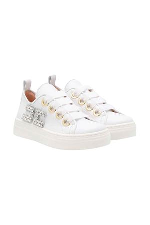 Sneakers bianche con applicazione Elisabetta Franchi La Mia Bambina ELISABETTA FRANCHI LA MIA BAMBINA | 12 | 64246VAR2