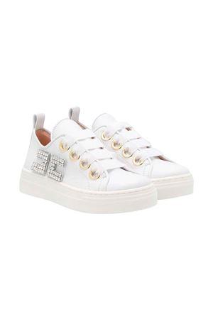 White teen sneakers Elisabetta Franchi La Mia Bambina ELISABETTA FRANCHI LA MIA BAMBINA | 12 | 64246VAR2T