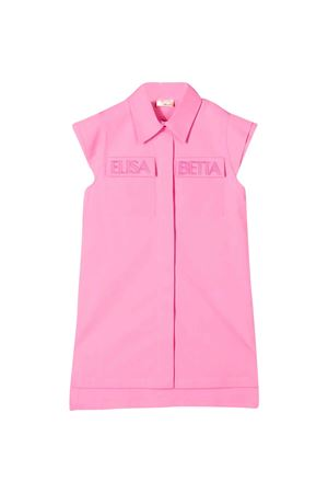Abito rosa teen senza maniche Elisabetta Franchi La Mia Bambina ELISABETTA FRANCHI LA MIA BAMBINA | 11 | EFAB262CE201VE0460168T