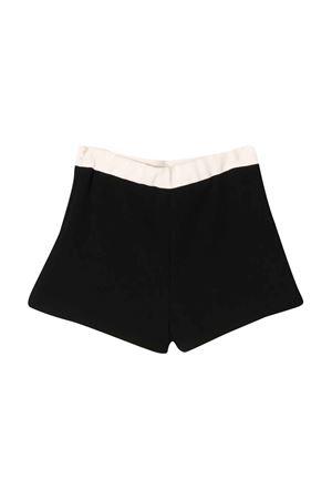 Black shorts with rear logo Elisabetta Franchi La Mia Bambina ELISABETTA FRANCHI LA MIA BAMBINA | 30 | EFBE21GA37VE0070030