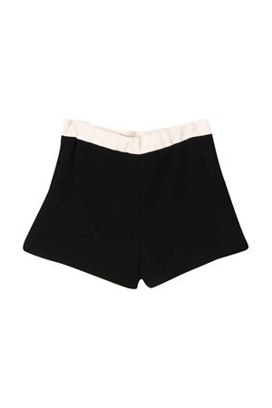 Black teen shorts Elisabetta Franchi La Mia Bambina ELISABETTA FRANCHI LA MIA BAMBINA | 30 | EFBE21GA37VE0070030T