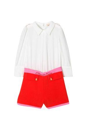 White and red teen jumpsuit Elisabetta Franchi La Mia Bambina ELISABETTA FRANCHI LA MIA BAMBINA | 19 | EFTU30GA35VE0070029T