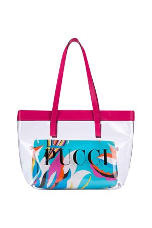White and fuchsia bag with logo Emilio Pucci Junior EMILIO PUCCI JUNIOR | 31 | 9M0178MX430001FU