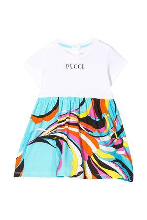 White flared dress with logo Emilio Pucci junior EMILIO PUCCI JUNIOR | 11 | 9M1501MX170100