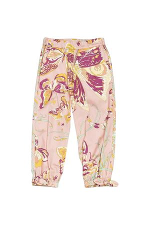 Pantalone rosa con stampa floreale Emilio Pucci Junior EMILIO PUCCI JUNIOR | 9 | 9M6090MC900502FU