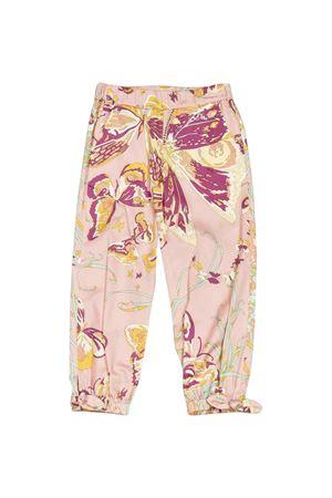 Pantalone rosa con stampa floreale Emilio Pucci Junior EMILIO PUCCI JUNIOR | 9 | 9M6090MC900502FUT