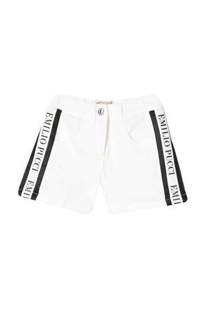 Shorts denim bianco con bande laterali Emilio Pucci Junior EMILIO PUCCI JUNIOR | 30 | 9M6119MA820100