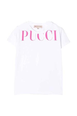 T-shirt bianca Emilio Pucci junior EMILIO PUCCI JUNIOR   8   9M8001MX170100