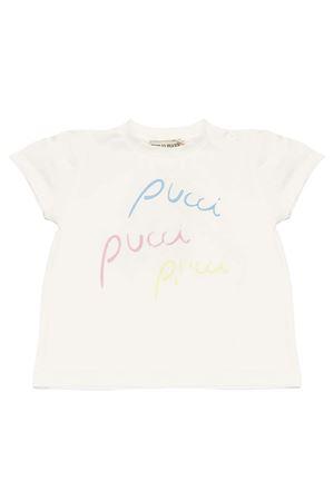 T-shirt bianca con stampa multicolor Emilio Pucci Junior EMILIO PUCCI JUNIOR | 8 | 9M8551MC960100