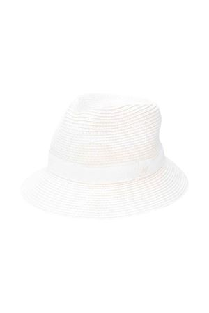 White fedora hat with frontal logo Fay kids FAY KIDS | 75988881 | 5M0047MX530100