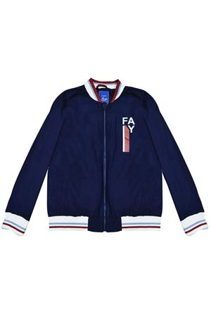 Blue lightweight jacket with white details Fay kids FAY KIDS | 13 | 5M2047MD560619