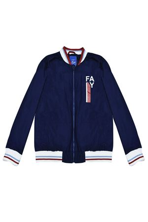 Blue teen lightweight jacket with white details Fay kids FAY KIDS | 13 | 5M2047MD560619T