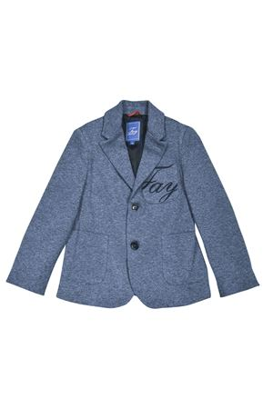 Blue teen blazer with logo Fay kids FAY KIDS | 5032278 | 5M2124ME040621AZT