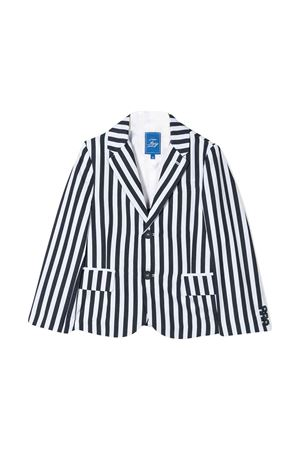 White teen blazer with blue stripes Fay kids FAY KIDS | 5032278 | 5M2144MD680100BLT