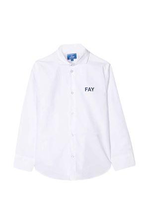 Camicia bianca con orlo curvo Fay kids FAY KIDS   5032334   5M5010MX260100