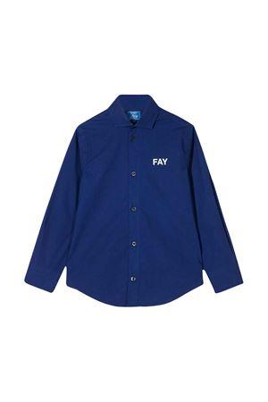 Camicia blu teen con orlo curvo Fay kids FAY KIDS   5032334   5M5010MX260619T