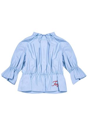 Light blue blouse with logo Fay kids FAY KIDS | 194462352 | 5M5503MB170607