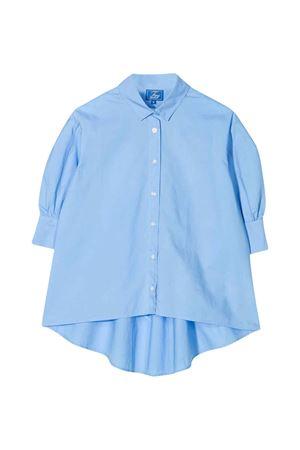 Camicia blu oversize con manica corta Fay kids FAY KIDS   5032334   5M5513MX260607