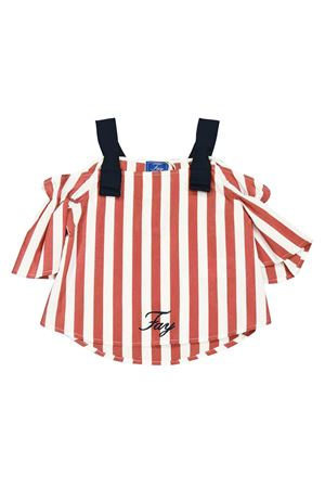 White and red stripes top Fay kids FAY KIDS | 40 | 5M5531MD600100RO