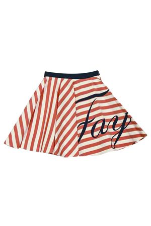 White and red stripes skirt with logo Fay kids FAY KIDS | 15 | 5M7500MD600100RO