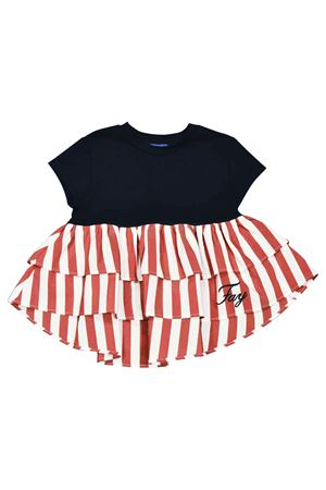 Blue teen t-shirt with white and red stripes Fay kids FAY KIDS | 8 | 5M8591MX070621ROT