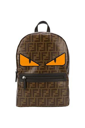 Brown backpack Fendi kids  FENDI KIDS | 279895521 | 8BZ040A9URF18UU