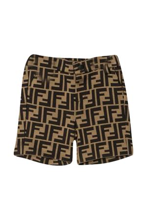 Shorts with FF logo Fendi kids FENDI KIDS | 30 | BMF166A6A6F0E0X