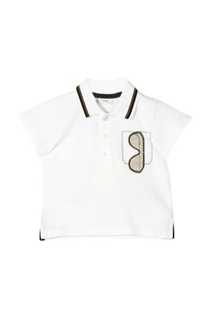 White polo shirt with press Fendi kids FENDI KIDS | 2 | BMI196AVPF0TU9