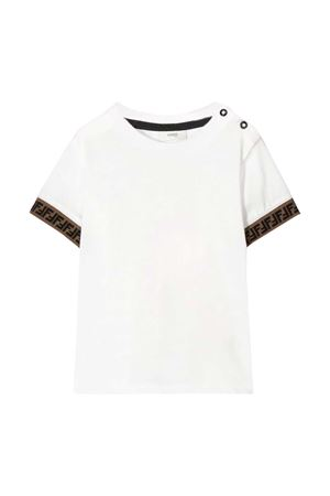 White t-shirt with logo details Fendi kids FENDI KIDS | 8 | BMI2007AJF0TU9
