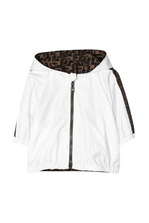 White jacket with FF press Fendi kids FENDI KIDS | 13 | BUA027AAC1F0TU9