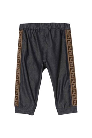Blue trousers with elastic waistband Fendi kids FENDI KIDS | 9 | BUF024A7LWF0QB0