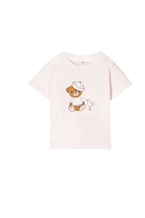 Pink t-shirt with frontal press Fendi kids FENDI KIDS | 8 | BUI009ST8F0C11