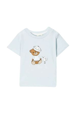 Fendi kids baby blue t-shirt FENDI KIDS | 8 | BUI009ST8F19J4