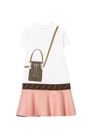 Two-tone teen Fendi kids dress  FENDI KIDS | 11 | JFB319AACLF0TY7T