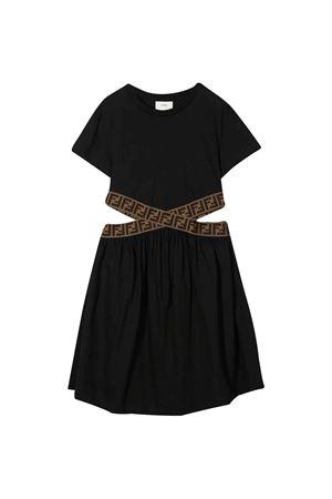 Black dress with cut-out detail Fendi kids FENDI KIDS | 11 | JFB3307AJF0QA1