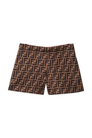 Brown shorts Fendi kids teen FENDI KIDS | 30 | JFF174A8LGF0E0XT