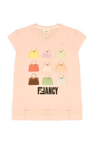 Pink teen t-shirt with multicolor press Fendi kids FENDI KIDS | 8 | JFI1917AJF16WGT