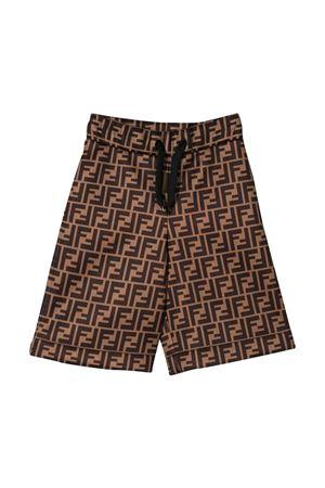 Brown bermuda shorts Fendi kids teen  FENDI KIDS | 5 | JMF245A8LGF0E0XT