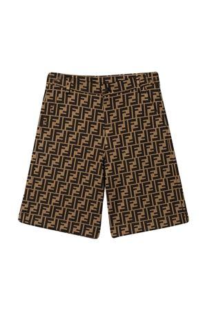 Fendi kids brown Bermuda shorts  FENDI KIDS | 5 | JMF274A6A6F0E0X