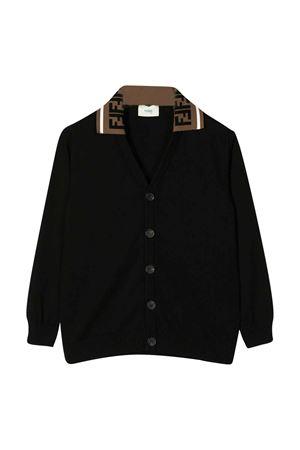 Black cardigan with logo Fendi kids FENDI KIDS | 39 | JMG065A3TFF0QA1